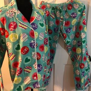 Pottery Barn Teen PJ Flannel pajama Set XS
